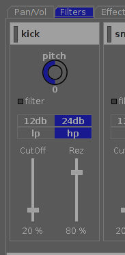 Audio Mixer Filter Section