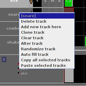 left click menu track