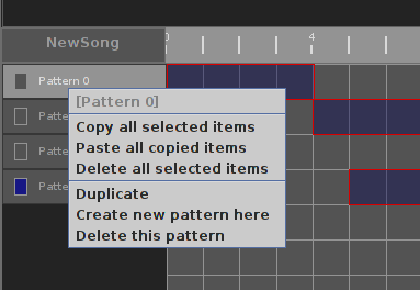 pattern sequencer window